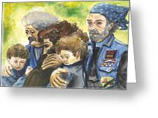 Grieving Veterans Greeting Card