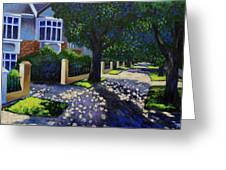 Griffith Avenue Through The Trees Greeting Card