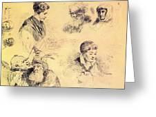 Griffonnage 1814 Greeting Card