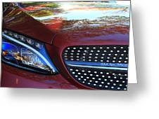 Grille  And Headlight  Greeting Card