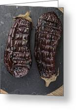 Grilled Aubergine Greeting Card