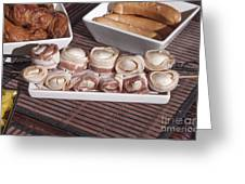 Grilled Champignon Greeting Card