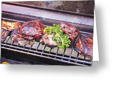 Grilled Meat Greeting Card