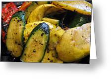 Grilled Veggies Greeting Card