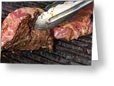 Grilling Steak Greeting Card