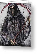 Grim Reaper Colored Greeting Card