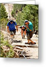 Grinding It Out On The Manitou Incline And Barr Trail Greeting Card