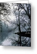Grings Mill Fog 1043 Greeting Card