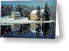 Grings Mill Snow 001 Greeting Card