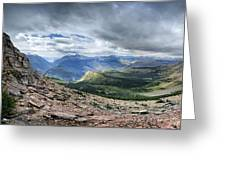 Grinnell Glacier Overlook Panorama - Glacier National Park Greeting Card