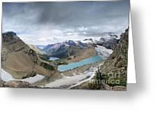 Grinnell Glacier Overlook Vista - Glacier National Park Greeting Card