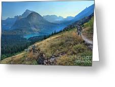 Grinnell Glacier Trail Hiker Greeting Card
