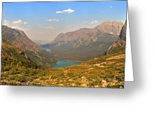 Grinnell Glacier Trail Panorama Greeting Card