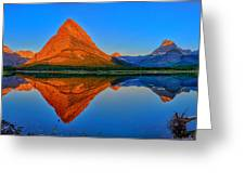 Grinnell Point Alpenglow Panorama Greeting Card