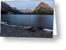 Grinnell Point Over Swiftcurrent Lake Greeting Card