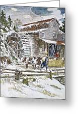 Grist Mill, 19th Century Greeting Card