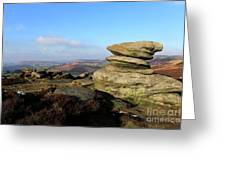 Gritstone Rocks On Hathersage Moor, Derbyshire County Greeting Card