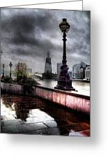 Gritty Urban London Landscape Greeting Card