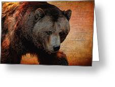 Grizzly Bear Painted Greeting Card
