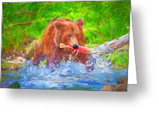 Grizzly Delights Greeting Card