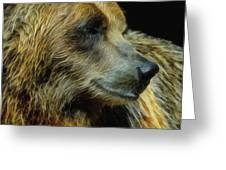 Grizzly Profile Greeting Card