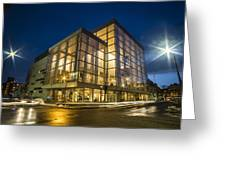 Groovy Modern Architecture One Wintry Night Greeting Card