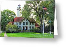 Grosse Point Light Station Greeting Card