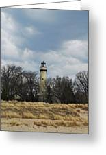 Grosse Point Lighthouse Portrait Greeting Card