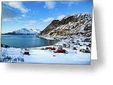 Grotfjord Norway Greeting Card