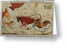 Grotte Prehistorique De Lascaux Greeting Card