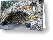 Grotto Of Our Lady Of Lourdes 2 Greeting Card
