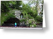 Grotto Of Our Lady Of Lourdes Greeting Card