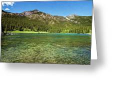 Grotto Pond Canmore Alberta Greeting Card
