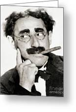 Groucho Marx, Vintage Comedy Actor Greeting Card