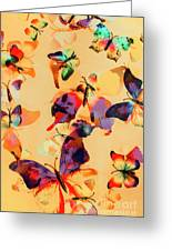 Group Of Butterflies With Colorful Wings Greeting Card