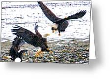 Group Of Eagles Greeting Card