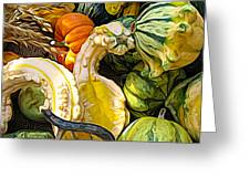 Group Of Gourds Expressionist Effect Greeting Card