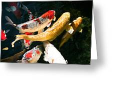 Group Of Koi Fish Greeting Card