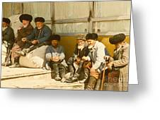 Group Of Uzbek Retirees Greeting Card