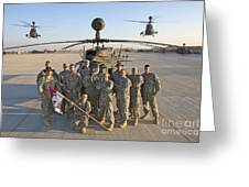 Group Photo Of U.s. Soldiers At Cob Greeting Card