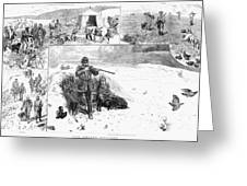 Grouse Hunting, 1887 Greeting Card