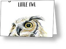 Grow Wise Little Owl Greeting Card