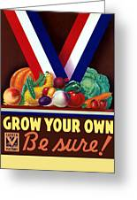 Grow Your Own Victory Garden Greeting Card