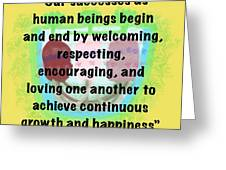 Growth With Humanity Greeting Card