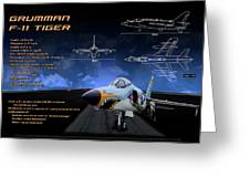 Grumman F-11 Tiger Greeting Card