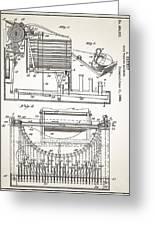 Grundy Typewriter Patent 1889 Greeting Card