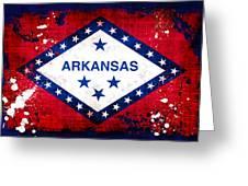 Grunge Style Arkansas Flag Greeting Card