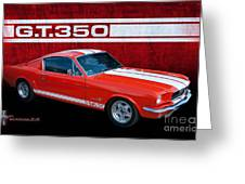 Red Gt 350 Mustang Greeting Card