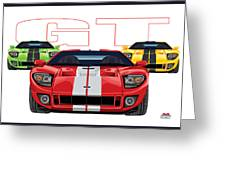 Gt Run Greeting Card