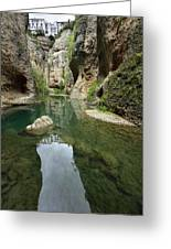 Guadalevin River At El Tajo Gorge From The Bottom Of The Secret  Greeting Card